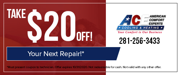 October 2020 Special - Take $20 off your next repair