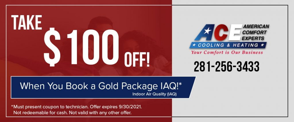 100 Off on Gold Package IAQ